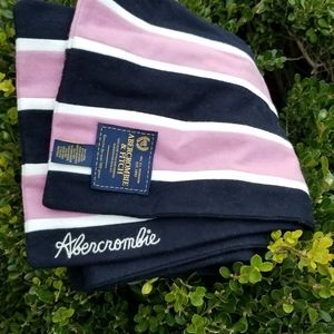 Abercrombie & Fitch Wool Blend Scarf pink blue
